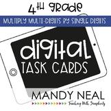 Fourth Grade Digital Math Task Cards ~ Multiply Multi-Digi