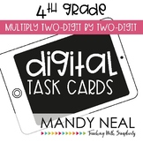 Fourth Grade Digital Math Task Cards ~ Multiply Two-Digits