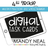 Fourth Grade Math Task Cards ~ Multiplying Fractions and W