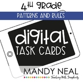 Fourth Grade Digital Math Task Cards ~ Patterns and Rules