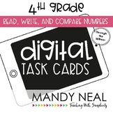Fourth Grade Digital Math Task Cards ~ Read, Write, and Co