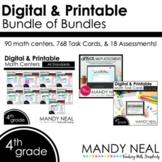 Fourth Grade Math Task Cards and Math Centers ~ Bundle of Bundles