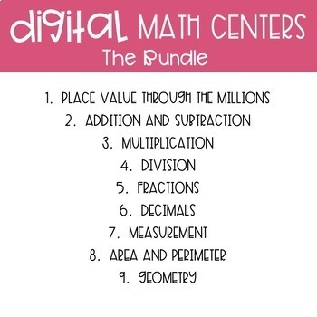 Fourth Grade Math Task Cards and Math Centers ~ Bundle of Bundles