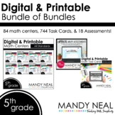 Fifth Grade Math Task Cards and Math Centers ~ Bundle of Bundles