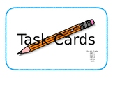 Fourth Grade Math Task Cards with Answers