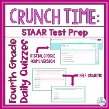Fourth Grade Math Test Prep Assessment All TEKS Standards Bundle