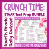 Fourth Grade Math Test Prep Assessment All TEKS Standards Bundle