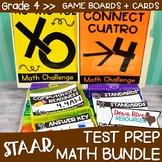 Fourth Grade Math Test Prep Review Games Bundle | Fourth Grade TEKS