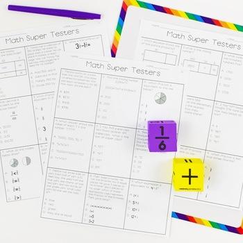 Fourth Grade Math Test Prep - Spiral Review