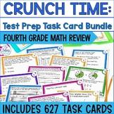 Fourth Grade Math Test Prep Task Cards BUNDLE