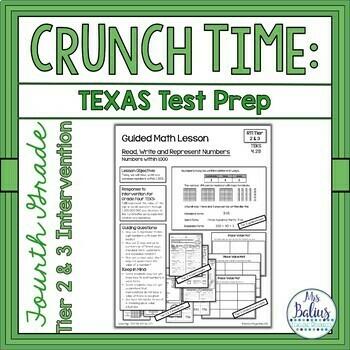Fourth Grade Math STAAR Test Prep Tier 2 & 3 Intervention TEKS 4.2B