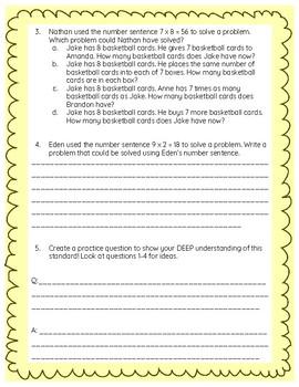 Fourth Grade Math Test Preparation (OA) *SAMPLE*