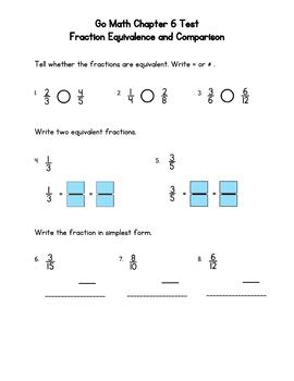 Fourth Grade Math Tests Bundle (Whole Year, Go Math Correlated)