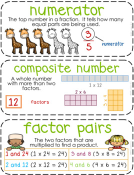 Fourth-Grade Math Vocabulary {My Math Series - ALL Units}{CCSS aligned}