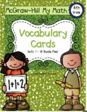Fourth-Grade Math Vocabulary {My Math Series - ALL Units}{