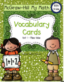 Fourth-Grade Math Vocabulary {My Math Series - Unit 1}{CCS
