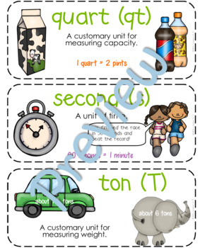 Fourth-Grade Math Vocabulary {My Math Series - Unit 11}{CCSS aligned}