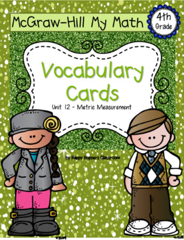 Fourth-Grade Math Vocabulary {My Math Series - Unit 12}{CCSS aligned}