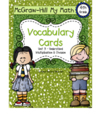 Fourth-Grade Math Vocabulary {My Math Series - Unit 3}{CCS