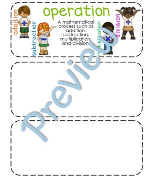Fourth-Grade Math Vocabulary {My Math Series - Units 4, 5, & 6}{CCSS aligned}