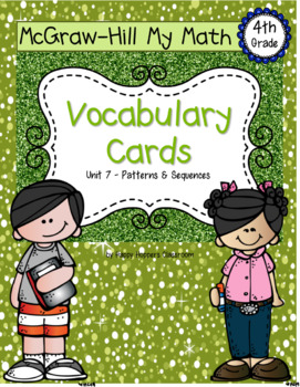 Fourth-Grade Math Vocabulary {My Math Series - Unit 7}{CCSS aligned}