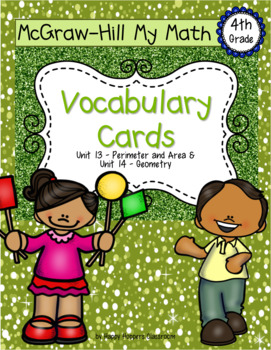 Fourth-Grade Math Vocabulary {My Math Series - Units 13 & 14}{CCSS aligned}