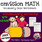 enVision Math 4th Grade Vocabulary CLOZE Worksheet Activities