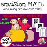 enVision Math 4th Grade 2009 Version Vocabulary Crossword Puzzles Topics 1-20