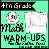 Fourth Grade Math Warm Ups, Bell Ringers, Morning Work for Entire Year