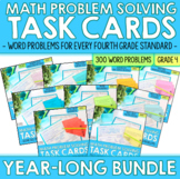 Fourth Grade Math Word Problem Solving Task Cards | Year L