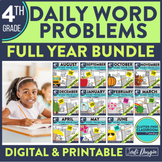 Fourth Grade Math Word Problems for the Whole School Year Bundle