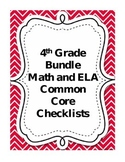 Fourth Grade Math and Language Arts Common Core Checklist