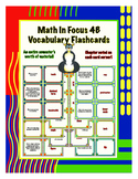 Fourth Grade Math in Focus 4B Vocabulary Flashcards
