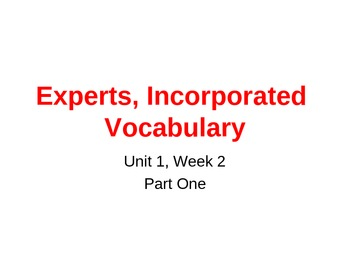 Fourth Grade McGraw Hill Wonders Unit 1 Week 2 Vocabulary