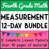 Fourth Grade Measurement & Data Lesson Bundle, 12-Day Measurement & Data Unit