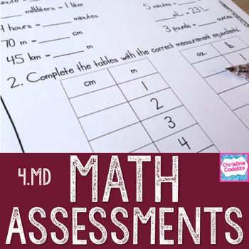 Math Assessments - Fourth Grade Measurement