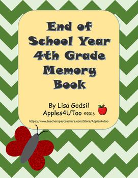 Fourth Grade Memory Book