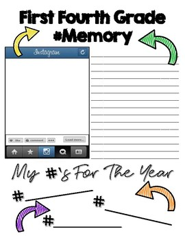 End of the Year Fourth Grade Memory Book