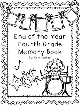 Fourth Grade Memory Book- Rockstar Theme