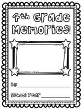 Fourth Grade Memory Book/End of Year