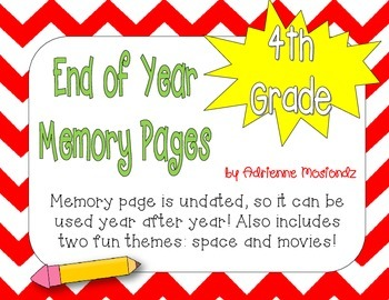 Fourth Grade Memory Page Packet