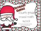 Fourth Grade Mixed Math Scoot