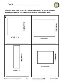 Fourth Grade Multiplication Packet - 4.NBT.5
