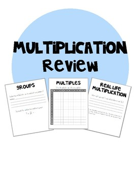Fourth Grade Multiplication Review Packet