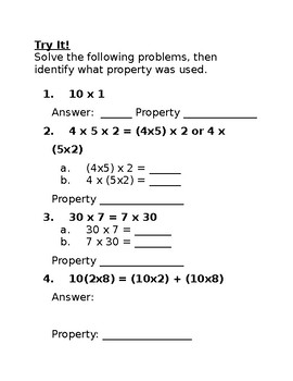 Fourth Grade Multiplication Study Guide