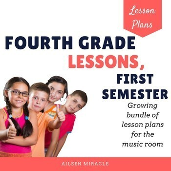 Fourth Grade Music Lessons, First Semester {Growing Bundle}