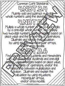 Math Assessments - Fourth Grade Base Ten