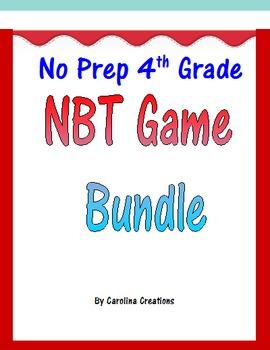 Fourth Grade NBT Math Game Bundle