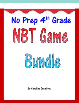 Fourth Grade NBT Math Game Bundle