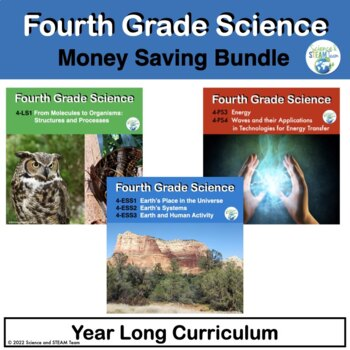 Fourth Grade NGSS:  Bundle of Science Units for the Whole Year!